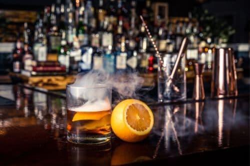 Smoked Godfather Cocktail