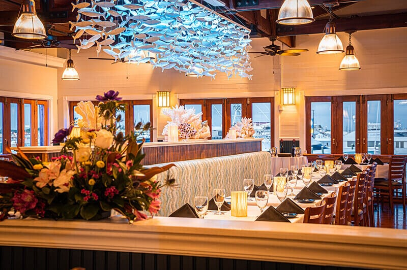Fine Italian Dining with Waterfront Views